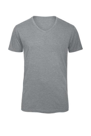 T Shirt Herren V Neck Sport Freizeit Kirsch