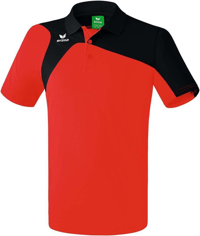 reputable site c2e28 e855c Tennis-Poloshirt rot/schwarz Gr.S-3XL